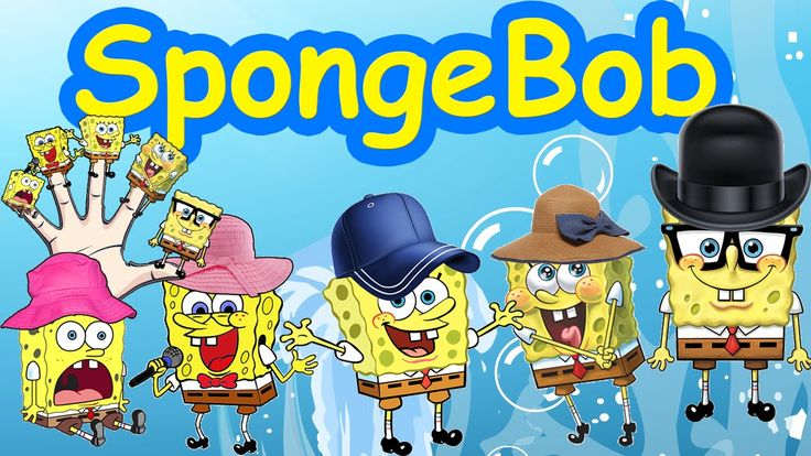 Sponge Bob Cartoon Finger Family Nursery Rhyme And Cartoon Animation Rhymes