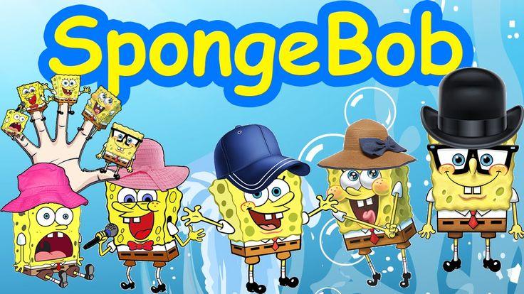 Sponge Bob Cartoon Finger Family Nursery Rhyme And Cartoon Animation Rhymes