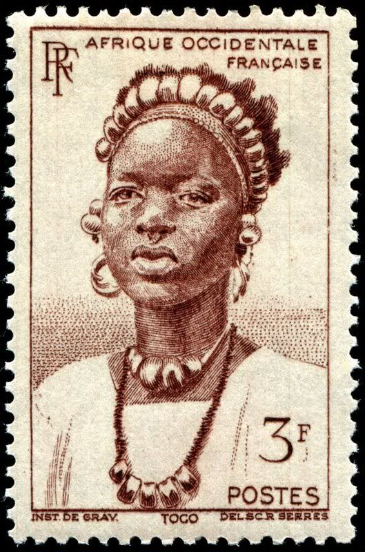 French West Africa 1947 engraved by Serres. Cameroun became independent in 1960.