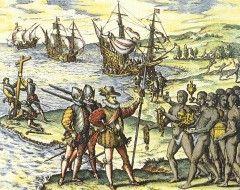 De ontdekking van Amerika. Ontdekt door christoffel Columbus die tot zijn dood dacht dat het Indië was. In Amerika waren andere mensen die indianen werden genoemd. Later is Amerika vernoemd naar degene die zei dat dit echt niet Indië was, andere planten,dieren, culturen etc.