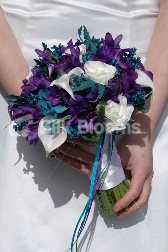 teal and purple weddings | All Wedding Products ... || Bridal Bouquets || Modern, Teal and Purple ...