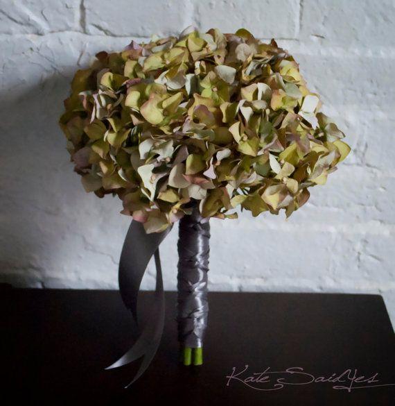 Moss Green Hydrangea Wedding Bouquet  Ready to Ship by KateSaidYes, www.katesaidyes.etsy.com