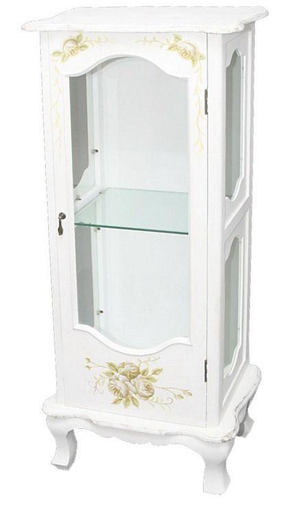 Vintage vitrína Kvety 1 - Najlepsinabytok.sk - Doprava ZDARMA!