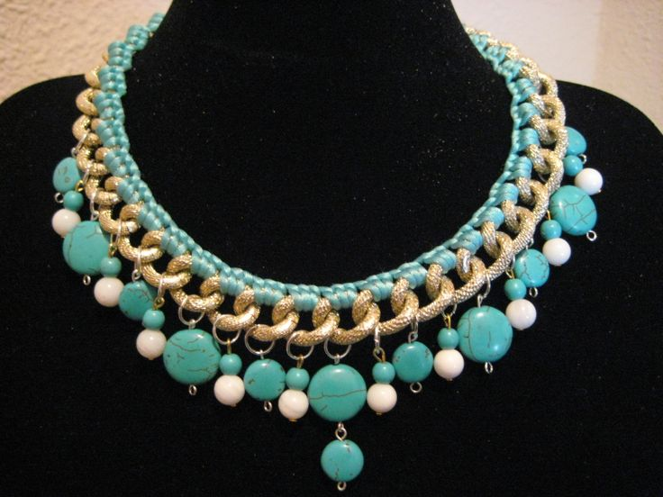 Collar beach summer collar confeccionado con cadena en - Piedras para collares ...