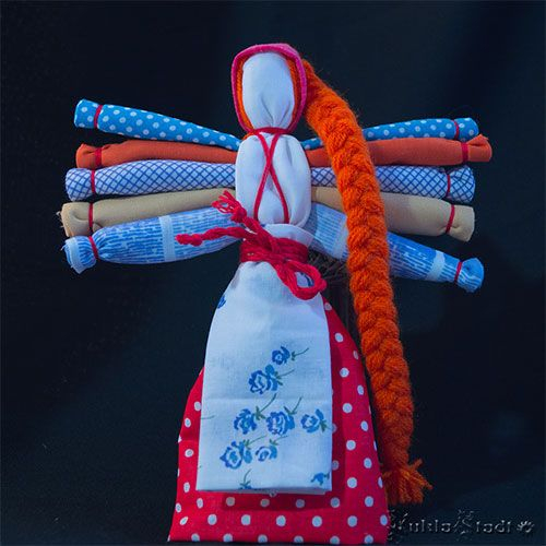 Традиционная русская кукла Десятиручка
