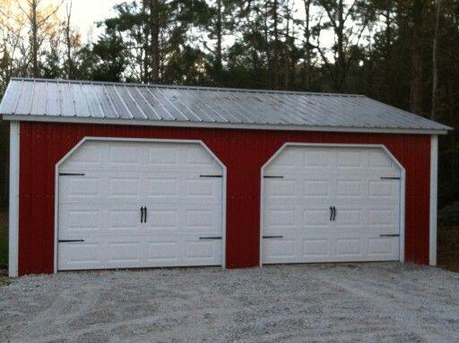 Carolina Carport Cardinal Red metal building garage with carriage style diy doors & Best 25+ Carolina carports ideas on Pinterest | Rv carports Rv ... Pezcame.Com