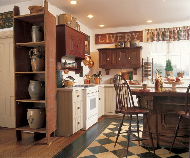 3 ideas for decorating with primitives and folk art primitive kitchencountry - Primitive Kitchen Decorating Ideas