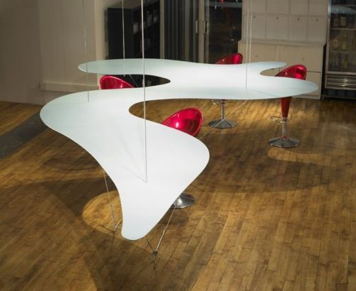 Suspended Dining Table by Bernstein Architects Bon Appetit: 10 Unique Dining Tables