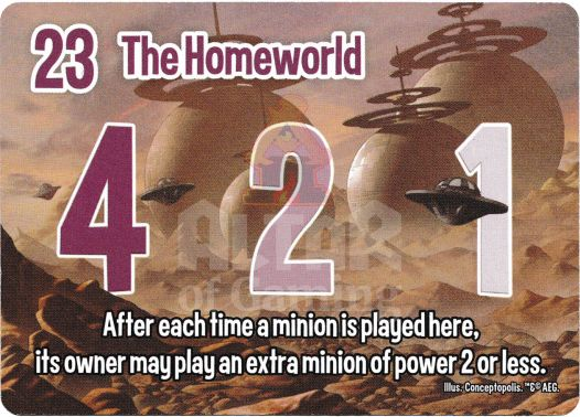 The Homeworld - Aliens - Smash Up Card | Altar of Gaming