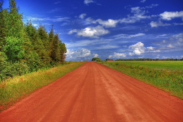 Dirt Road Prince Edward Island, Canada