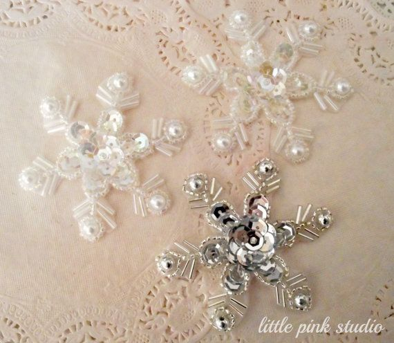 Snowflake Sequin Appliques {four dollars}
