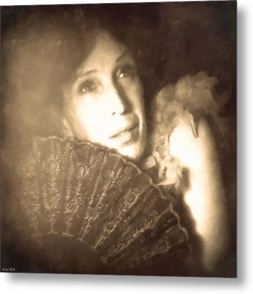 The Silent Film Movie Star Metal Print featuring the photograph The Silent Film Movie Star by KiaRa