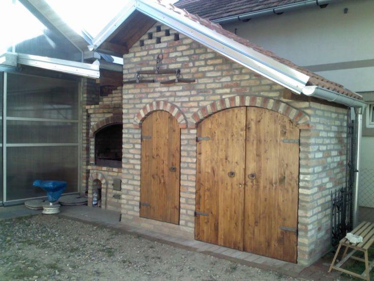 Brick oven and smokehouse