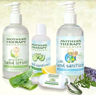 Mothers' Therapy Organics- Hand Sanitizer and Germ Fight'n Lotion