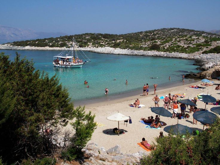 Samiopoula is a small island near the  South coast of Samos Island-Greece and it can be visited by boat from Pythagorion village daily. The beach of Samiopoula is one of the best beaches you will find on Samos, with fine sand and crystal clear water. #samos #greek_island #beach #sand #samiopoula #greece