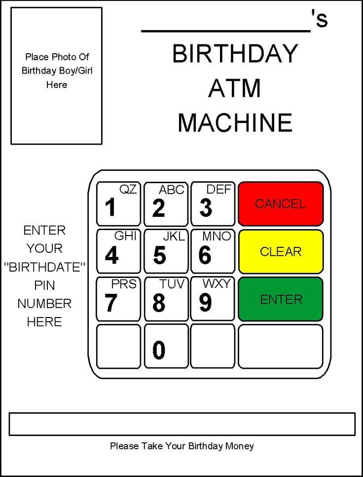 RobbyGurl's Creations: DIY Birthday Card ATM Machine