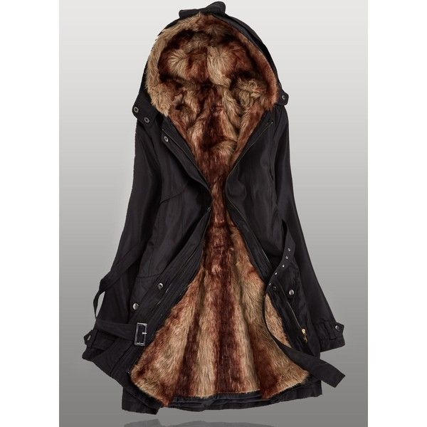 Plus Size Zipper Closure Hooded Collar Black Parka Coat ($54) ❤ liked on Polyvore featuring outerwear, coats, black, plus size coats, womens plus coats, long parka coats, plus size parka coats and cotton parka