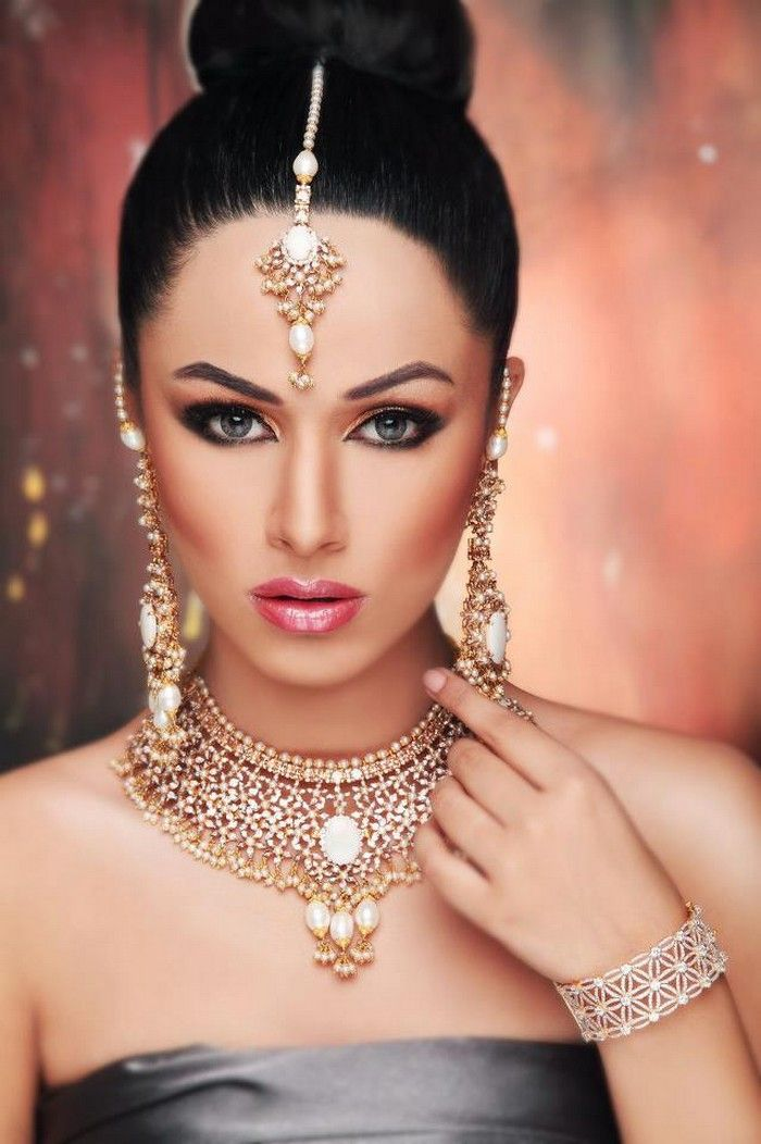 1000 Images About Arabic Bridal Hair And Makeup On -7249