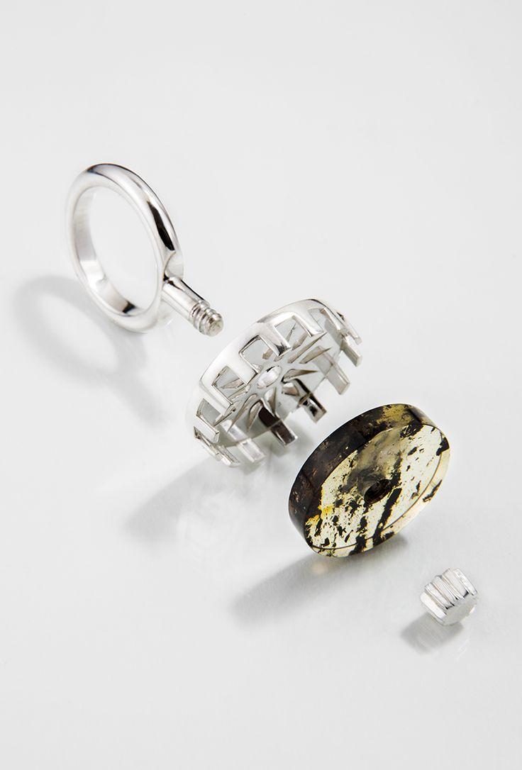Stella Polaris Ring // Silver, amber
