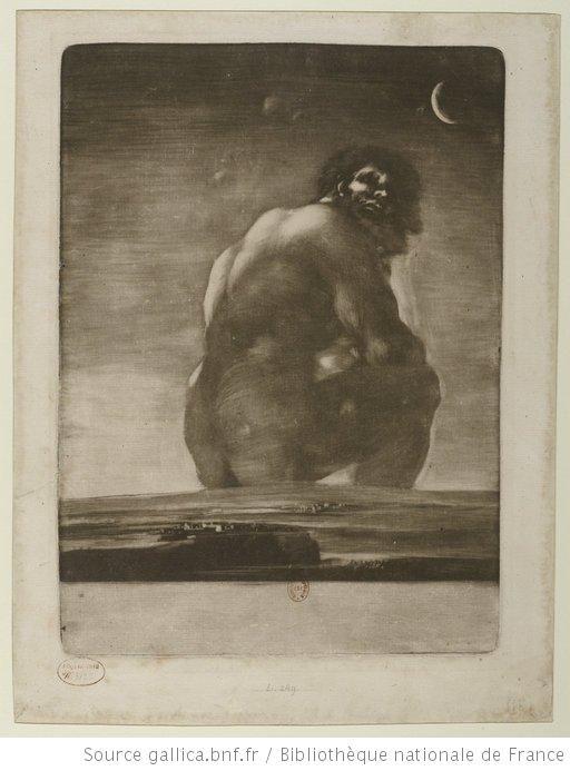 Goya, Géant assis, 1818