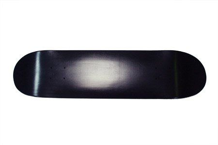 Blank Skateboard Deck - 8.0 in. x 31.75 in. - Black Turbo(NC-110808)