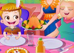 JuegosdeHazel.com - Juego: Día de Acción de Gracias - Jugar Juegos Nuevos de Bebe Hazel Gratis Online