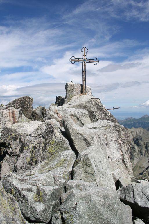 Gerlachův štít - Vysoké Tatry vrcholový kříž