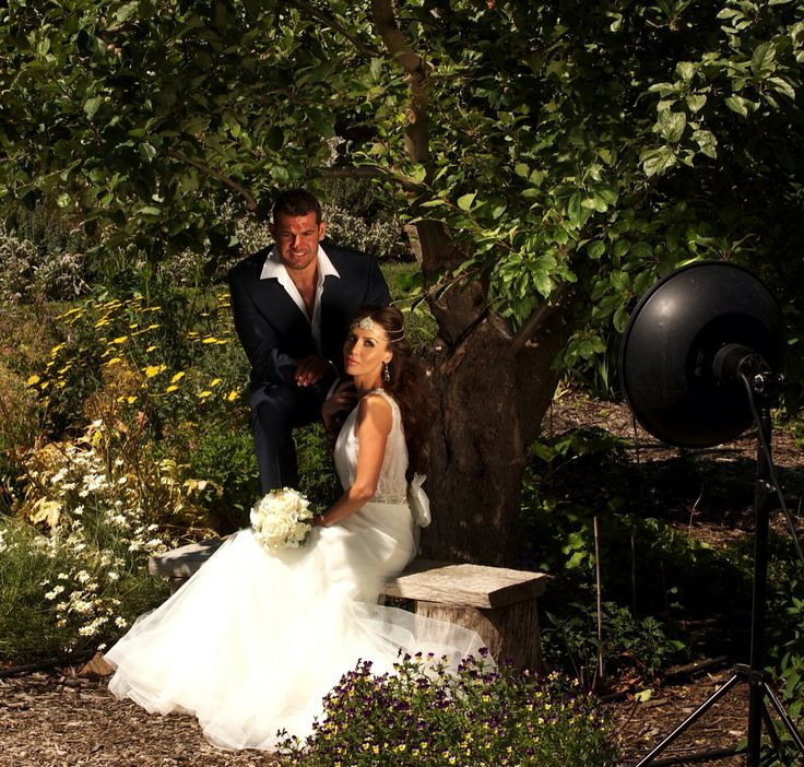 Behind the scenes images from a Pre Wedding Photo Shoot styled by Soirée Productions. Photography by Raffael Galardi. Wedding Gowns by Zahavit Tshuba, headpiece by @Viktoria Novak