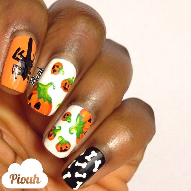piouh's awesome #Halloweenailart! Show us your tips—tag your nail photos with #SephoraNailspotting to be featured on our social sites!