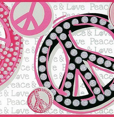 розовые обои для подростков с пацификами - оригинальное решение 307029 Eijffinger