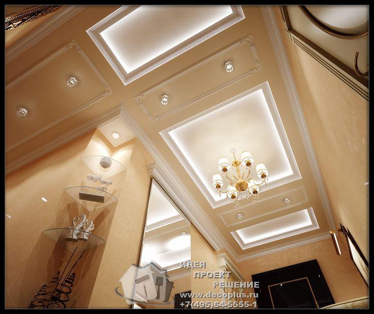 Дизайн подвесного потолка в прихожей