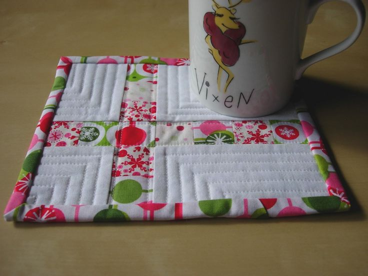Quilted+Mug+Rugs+Patterns | The second one is also a copy of Mary's design.