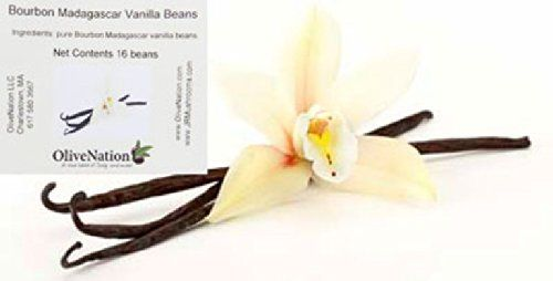 """16 Bourbon Madagascar Vanilla Beans. Each bean is 17 centimeters or more. They are billed as high quality beans and """"plump and moist"""" As of this posting... they have dropped $10 from $21.45 to $1..."""