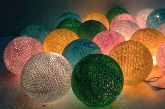 Handgemaakte lichtslingers gezellig om je huis te decoreren. Voor kinderkamer, huiskamer of slaapkamer.