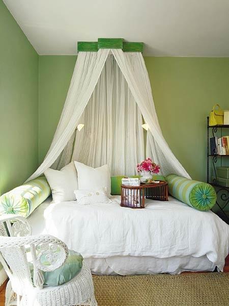 Sweet green bedroom