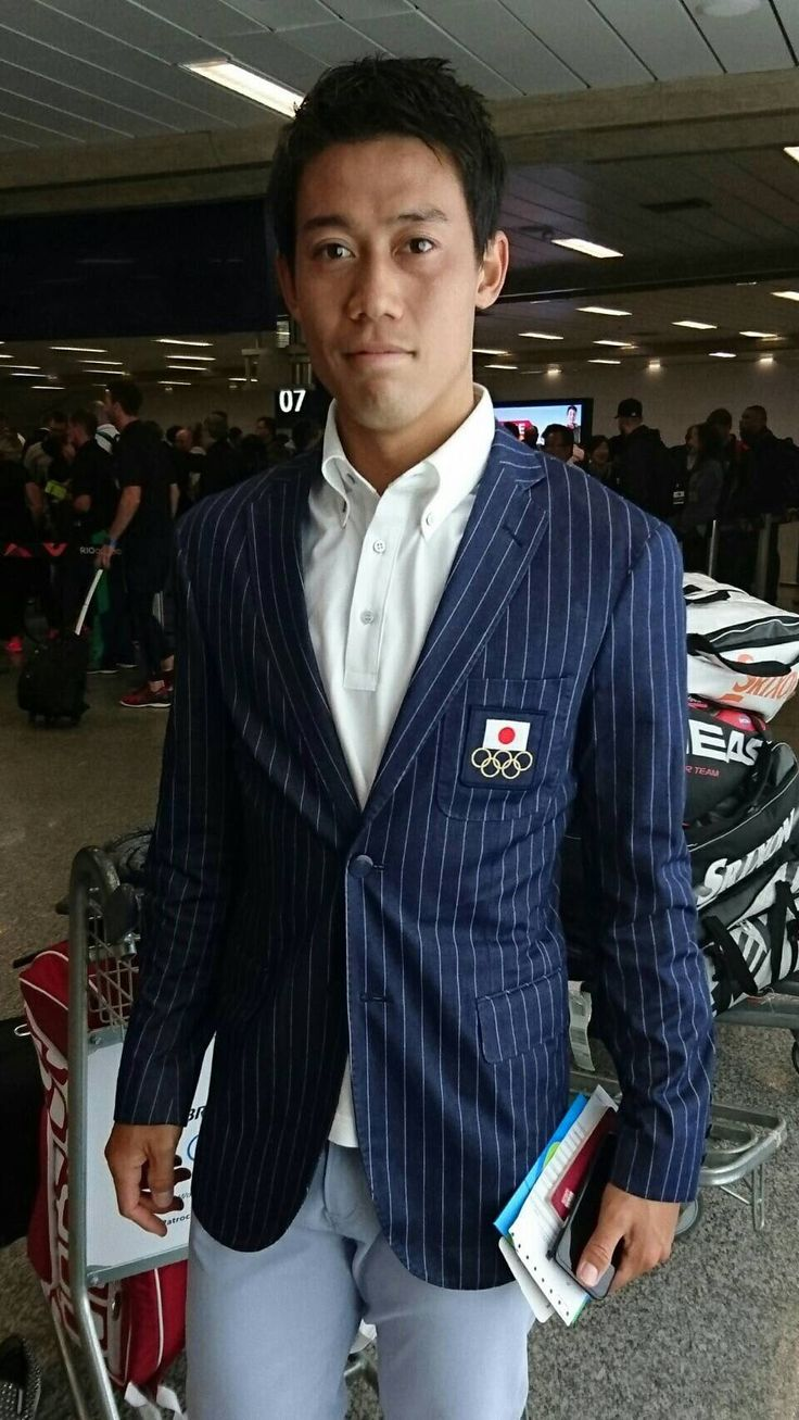Kei Nishikori in Japan Olympic team uniform