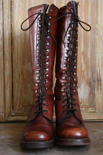 Vintage Frye BLACK LABEL Lace Up Women's Boots