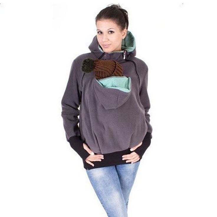 High Quality 3 in 1 Maternity Women Hoodies Carry Baby Sweatshirt Mom Multifunctional Zipper Thickened Autumn Hoodies