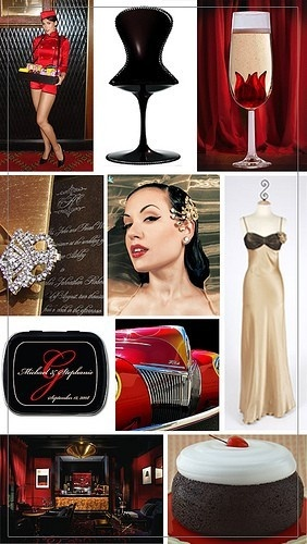 classic hollywood wedding details