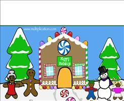 Holiday Multiplication Fun for SMARTBoard  (Choose the correct answer and watch the gingerbread house being built!)