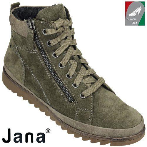 Jana női bőr bokacipő 8-25207-29 722 olíva zöld