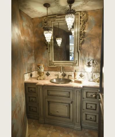 Beautiful Faux Painting On Walls And Cabinets