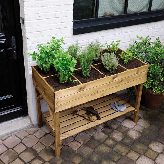 carr potager pour herbes aromatiques castorama mon petit jardin pinterest cr atif tables. Black Bedroom Furniture Sets. Home Design Ideas