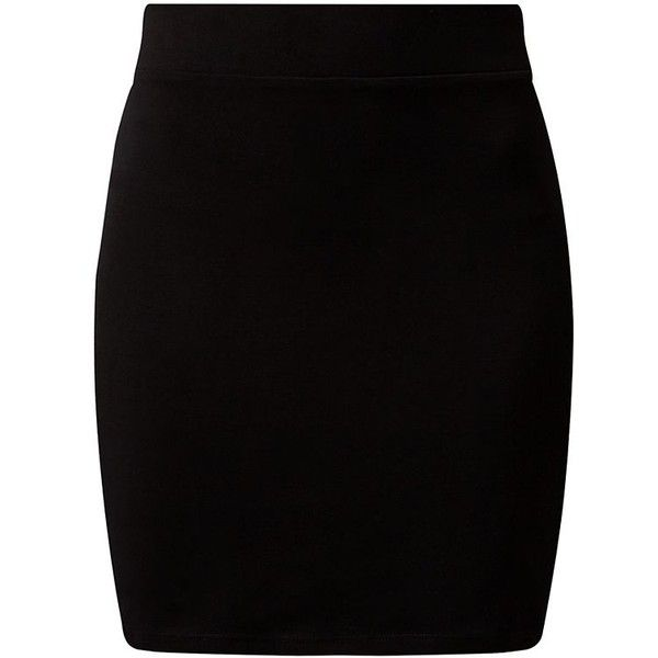 Black High Waisted Tube Skirt (129.480 VND) ❤ liked on Polyvore featuring skirts, mini skirts, bottoms, saias, high-waisted skirts, tube skirt, tube mini skirt, elastic waist mini skirt and high rise skirts