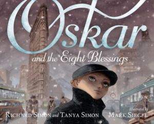 Oskar and the Eight Blessings by Richard & Tanya Simon & Mark Siegel - Winner of the 2015 National Jewish Book Award for Children's Literature. It is both the seventh day of Hanukkah and Christmas Eve, 1938. Oskar arrives in New York City with only a photograph and an address for an aunt he has never met. As Oskar experiences the city and its various residents, he also receives acts of kindness that welcome him to this new world.