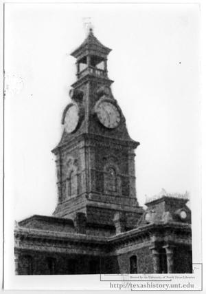 Clay County Courthouse Clock Tower 1885, Henrietta , Texas. The courthouse used to be spectacular until recent modifications....too bad!