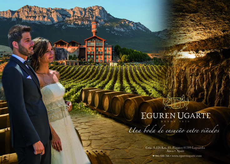 Bodas de ensueño entre viñedos en Eguren Ugarte en Laguardia, Álava (Spain)