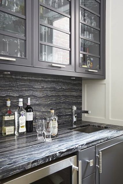 A stylish wet bar by Douglas Design Studio.