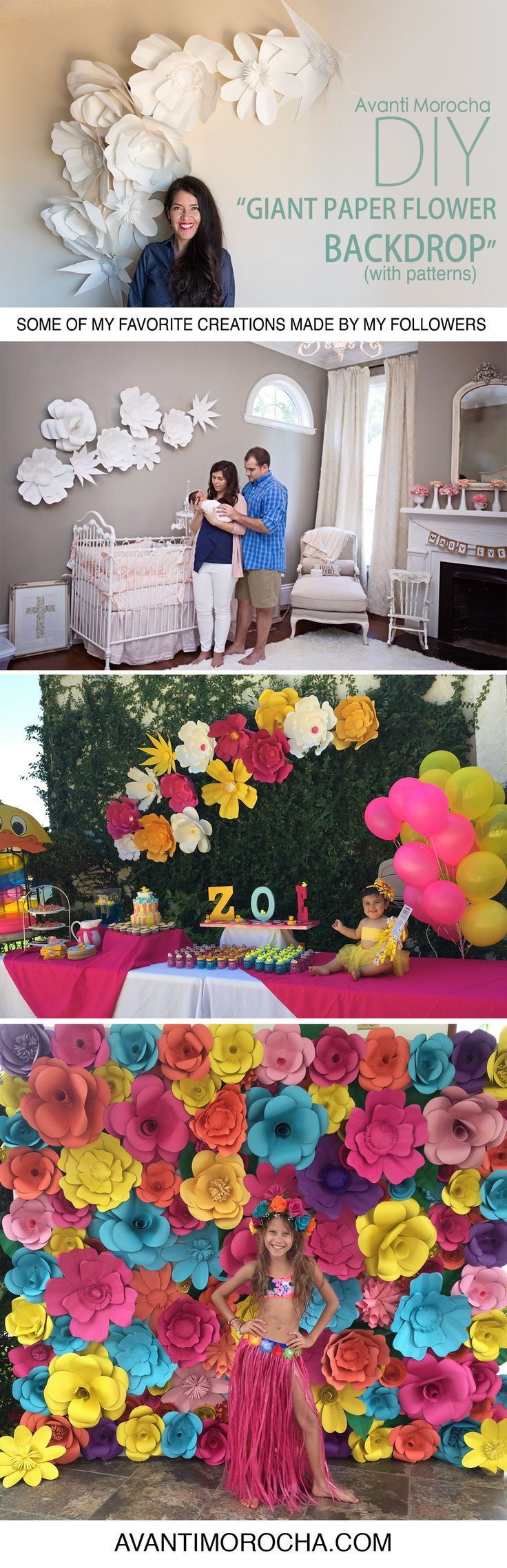 1000  ideas about paper flower backdrop on pinterest