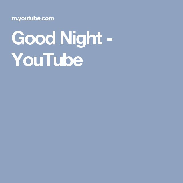 Good Night - Selena YouTube